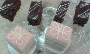 brownies en petit fours